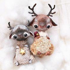 #handmade #artdoll #arttoy #deer