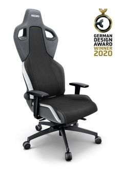 EXO_Grey_View_00 Exo, Gaming, Ergonomic Chair, Design Awards, Pure Products, Grey, Black, Gray, Videogames