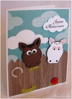 horse punch art Stampin' Up!