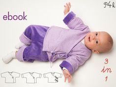 Baby Jacke Modell Fiorino (Schnittmuster Ebook).  Für Näheinsteigerinnen! Mit Foto Anleitung! Schnitt, Ebook, Download, Wickeljacke von pattern4kids auf Etsy