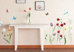 Spring Flowers Wall Decal Sticker