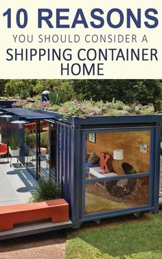 10 Reasons You Should Consider a Shipping Container Home  ShippingContainerIdeas.com  Shipping container house, shipping container homes, cargo container home, tiny homes, tiny houses