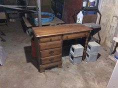 Refurbished Child's Desk To Child's Desk With Hutch