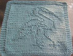 DigKnitty Designs: Egret Knit Dishcloth Pattern
