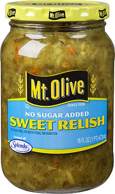2 tablespoons no-sugar-added sweet relish, such as Mt. Olive
