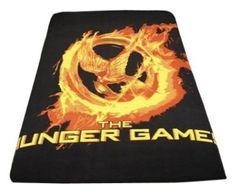 """Amazon.com: The Hunger Games Movie - Polar Fleece 50""""x60"""" Throw, Mockingjay Fire: Toys & Games"""