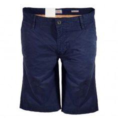 HUGO BOSS Navy Schino Regular Fit Shorts