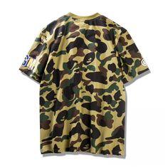 638e58b9 Bape Shirt, Shark Mouth, A Bathing Ape, Cheap Shirts, Camo, Button Down  Shirt, Men Casual, Camouflage