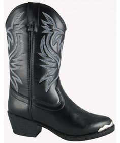 For one of the best high quality, affordable boots try Smoky Mountain Boots. These playful boy's faux leather boots feature a man made lining, toe rand, and western toe. Perfect for everyday wear, these boots are ready for a rough 'n' tumble adventure! Youth Cowboy Boots, Black Cowboy Boots, Cowgirl Boots, Western Boots, Riding Boots, Western Cowboy, Western Wear, Toddler Boots, Kids Boots