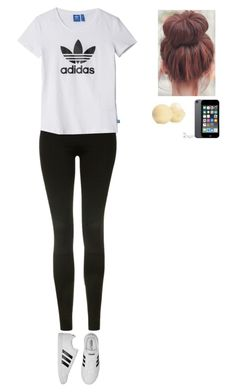 """LAZY AF"" by glasses1738 ❤ liked on Polyvore featuring Topshop, adidas and Eos"