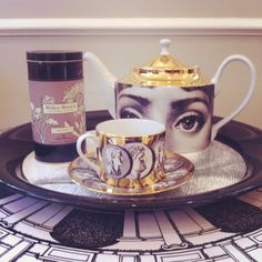 Miller Harris fragrant tea and Fornasetti tea ware