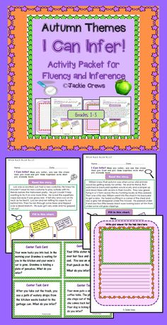 Grades 1-3. Ten inference pages are in this product; enough for two weeks of practice. This file is formatted exactly like my smaller file: I Can Infer.These activities for inference are based upon first grade core standards for reading fiction, but it can also be used through third grade as intervention material. This product has 10 inference pages