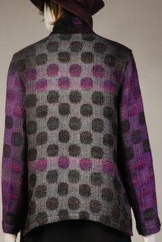 arlene wohl brings elegant hand-woven jackets to omaha september 24 - 2014 October 1, Nuno Felting, Wearable Art, Hand Weaving, Bring It On, Men Sweater, Sculpture, Elegant, Jackets