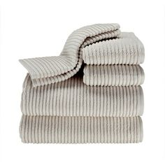 Turkish Long Staple Ribbed 6-piece 600 GSM Towel Set | Overstock.com Shopping - The Best Deals on Bath Towels