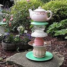 Hometalk :: Quick and easy garden art. I used DAP Auto/Marine waterproof sealant t…