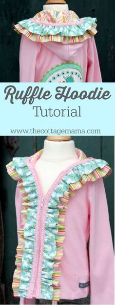 Embellished Ruffle Hoodie Tutorial - The Cottage Mama. www.thecottagemama.com