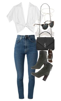 """""""Untitled #21215"""" by florencia95 ❤ liked on Polyvore featuring Yves Saint Laurent, Michael Kors, La Perla, Isabel Marant, AllSaints and Lilou"""