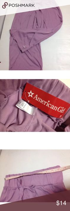 American girl doll Isabelle dance sleep pants Brand new with tags AG Isabelle Doll of the year size 18/20 for girl size purple dance pajama bottoms pants. Pajamas Pajama Bottoms
