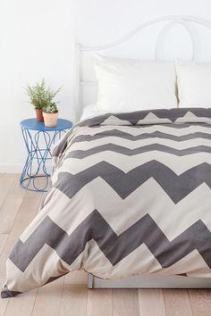 Tonal Zigzag Duvet Cover  #UrbanOutfitters