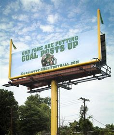 #OOH #Football #Charlotte #49ers Outdoor Signs, Balcony Garden, Tailgating, Billboard, Charlotte, Football, Goals, Kitchen Sink, Image