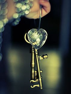 The golden key is to love each other, but love God and love yourself first.  Then nothing can be locked.