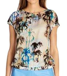 VonFon Summer Coconut Tree Print Women T Shirt Tees O Neck Short Sleeve Top Blouse Vonfon Online Shopping to enter or purchase click on Amazon here http://www.amazon.com/dp/B00L2A3CNO/ref=cm_sw_r_pi_dp_XKB0tb0EZG6QRF5N