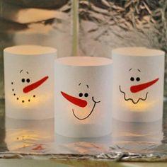 Eenvoudig winterlichtje om zelf te maken van bakpapier