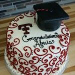 Texas tech graduation cake