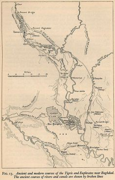 ancient and modern courses of the tigris euphrates rivers