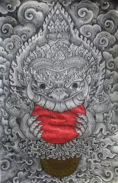 ราหู #rahu #thai #art #demon #drawing #asian #god #myth