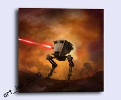 HD Print Portrait Oil Painting Wall Decor Art on Canvas,star wars mashup 24x24