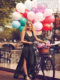 Free People getting on board with balloons and Bike Fashion.