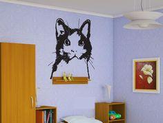 Cat Kitten Sticker Wall Vinyl Mural Home Animal Room Decoration Gift  #092 #HomeOfStickers