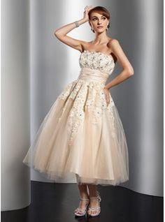 A-Line/Princess Strapless Floor-Length Taffeta Wedding Dresses ...