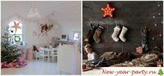 Новогодний декор детской комнаты
