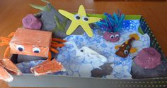 under the sea shoebox float | Cardboard toys and other fun