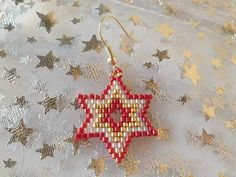Star Earrings - Orecchini a forma di stella con perline Miyuki
