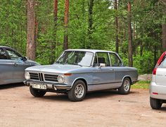 Lone hiker  Starring: BMW 1602  (by saabrobz)