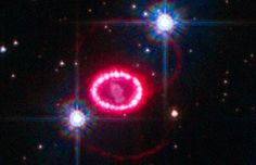 The glowing ring of hotspots around the supernova SN 1987A has begun to fade, two decades after the explosion's shock wave first compressed and lit up the ring.