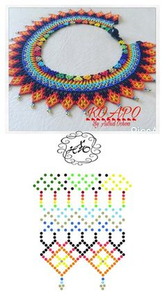 Home Decor ideas &Home Garden & Diy Diy Necklace Patterns, Bead Loom Patterns, Beaded Jewelry Patterns, Beading Patterns, Seed Bead Jewelry, Bead Jewellery, Jewelry Making Beads, Beading Projects, Beading Tutorials
