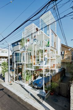 House NA  Sou Fujimoto Architects  Daring Project but no privacy whatsoever...