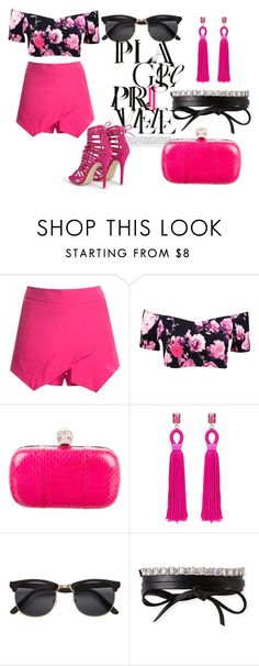 """Sparkle Life!"" by kristy-gk ❤ liked on Polyvore featuring Boohoo, Alexander McQueen, Oscar de la Renta, H&M and Fallon"