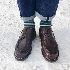 "fb7ac1ed0f2 Sung-Taka on Instagram  ""Good morning ❄ Paraboot Chambord cafe🇫🇷 . . .   paraboot  parabootchambord  madeinfrance  france  shoeholic  leathershoes  ..."