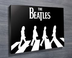Nice black and white artwork of The Beatles, using the image from the Abbey Road album. As with all art on this site, we offer these prints as stretched canvas prints, framed print, rolled or paper print or wall stickers / decals.