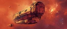 concept ships: Spaceship art by Long Pham Matte Painting, Watercolor Paintings, Space Fantasy, Fantasy Art, Concept Ships, Concept Art, Aliens, Fermi Paradox, Science Fiction Kunst