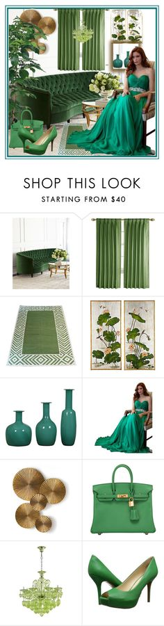 """""""set 154"""" by nudzi-ded ❤ liked on Polyvore featuring Old Hickory Tannery, Madeline Weinrib, Bradburn Gallery, Jovani, Arteriors, Hermès and Nine West"""