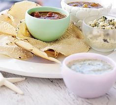 Two spicy Indian dips in one, perfect for a few poppadums