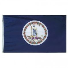 12 in. X 18 in. Nyl-Glo Virginia Flag http://www.pacificcoastflag.com/12-in-x-18-in-nyl-glo-virginia-flag.html