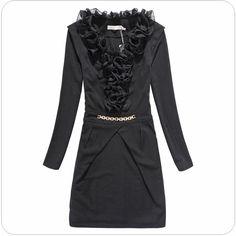 women fashion winter dress office ladies outfits k514 Black - $14.51