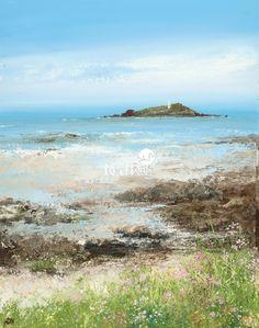Amanda HOSKIN - Sea Pinks at Godrevy Lighthouse